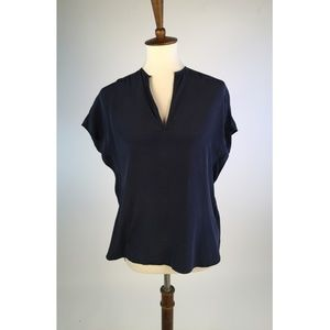 Vince Womens Blouse Top X-Small Navy Blue C56-02Z